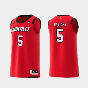 Basketball Red #5 Men's Replica Cardinals Malik Williams College Jersey