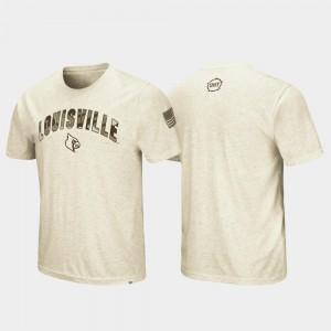 Desert Camo College T-Shirt Oatmeal OHT Military Appreciation Louisville Cardinal Men's