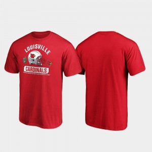 Spike Red Louisville Cardinals College T-Shirt 2019 Music City Bowl Bound For Men's