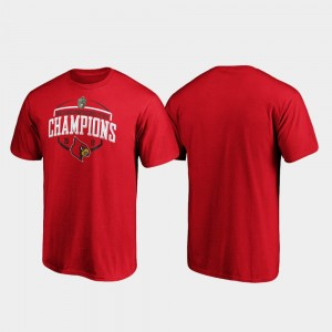 For Men's Corner Cardinals 2019 Music City Bowl Champions College T-Shirt Red