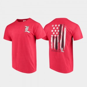 Comfort Colors Baseball Flag Red U of L College T-Shirt Men's