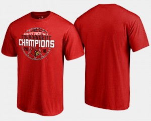 Basketball Conference Tournament 2018 ACC Champions Cardinal College T-Shirt Mens Red