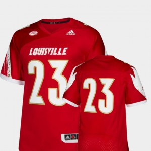 Premier #23 UofL Red For Men Football College Jersey