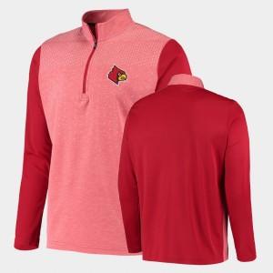 U of L For Men College Jacket UPF Quarter-Zip Red