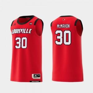 Basketball Mens Ryan McMahon College Jersey Red Cardinal Replica #30