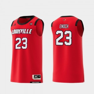 Replica U of L #23 Basketball Red Steven Enoch College Jersey Men's
