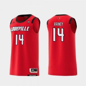Red Replica Basketball Mens UofL #14 Will Rainey College Jersey