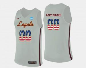 Loyola US Flag Fashion White Basketball Mens College Custom Jerseys #00