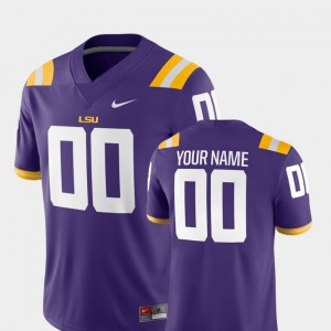 2018 Game LSU #00 College Customized Jersey For Men Football Purple