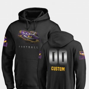 #00 Football Midnight Mascot LSU Tigers College Customized Hoodie For Men Black