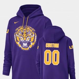 Purple Football Performance Champ Drive Tigers College Custom Hoodie Men #00
