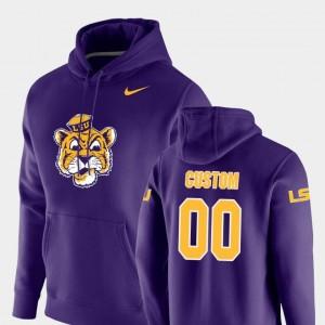 College Custom Hoodies #00 LSU Mens Pullover Vault Logo Club Purple