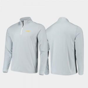 Gameday For Men's LSU Quarter-Zip Performance Gray College Jacket