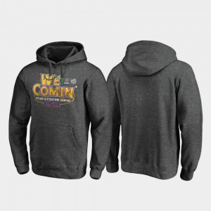 For Men Heather Gray LSU 2019 Peach Bowl Champions Football Playoff Receiver College Hoodie