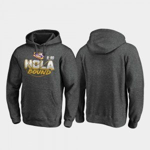 LSU Tigers 2020 National Championship Bound Heather Gray College Hoodie Mens Football Playoff Defensive