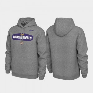 Pullover Local Phrase LSU Tigers College Hoodie Men's Heathered Gray