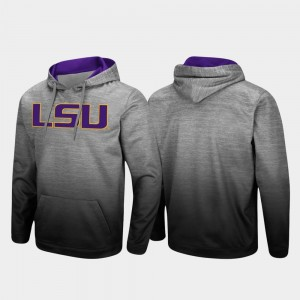 Men's Pullover Heathered Gray College Hoodie Sitwell Sublimated LSU
