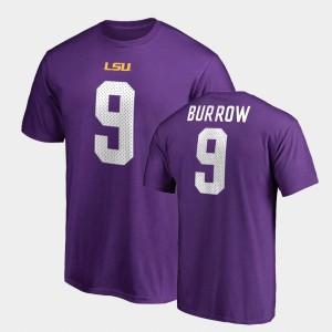 Legends Men Name & Number Purple #9 Tigers Joe Burrow College T-Shirt