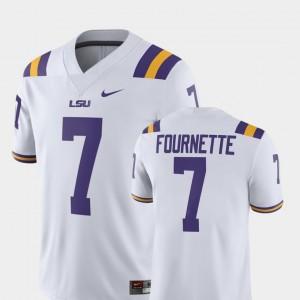 LSU Leonard Fournette College Jersey White #7 Alumni Football Game Mens Player