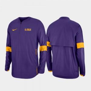 LSU Tigers Purple Men 2019 Coaches Sideline Quarter-Zip College Jacket
