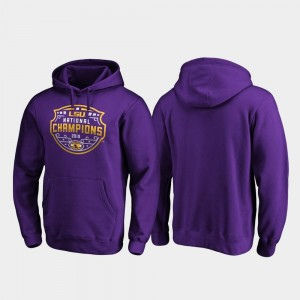 Football Playoff Encroachment College Hoodie 2019 National Champions Mens Purple Tigers