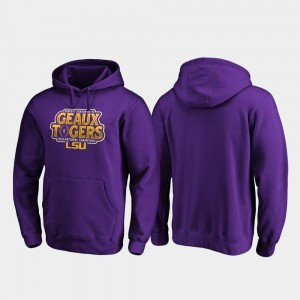 Mens Purple LSU Football Playoff Shotgun 2019 National Champions College Hoodie