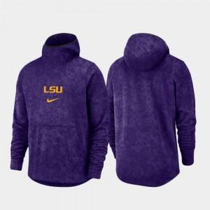 Louisiana State Tigers Spotlight College Hoodie For Men Basketball Team Logo Pullover Purple