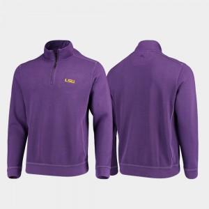 Mens College Jacket Purple Louisiana State Tigers Sport Nassau Half-Zip Pullover Tommy Bahama