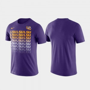 Performance College T-Shirt Fade LSU Tigers Purple For Men's