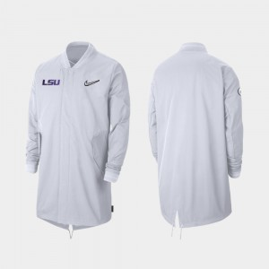 Sideline Full-Zip White LSU Tigers College Jacket For Men's 2019 Football Playoff Bound