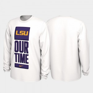 White College T-Shirt 2020 March Madness Louisiana State Tigers Our Time Bench Legend Men