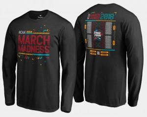Basketball Tournament Black 68-Team Bracket Long Sleeve March Madness College T-Shirt For Men