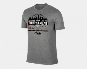 College T-Shirt March Madness 2018 ACC All Team Basketball Conference Tournament Heather Gray Men's