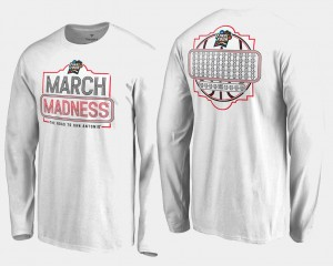 March Madness Basketball Tournament 68-Team Ball Long Sleeve White College T-Shirt Men's