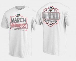 For Men's 68-Team Ball College T-Shirt March Madness Basketball Tournament White