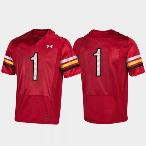 #1 Red 150th Anniversary Terrapins For Men's College Jersey Football Replica