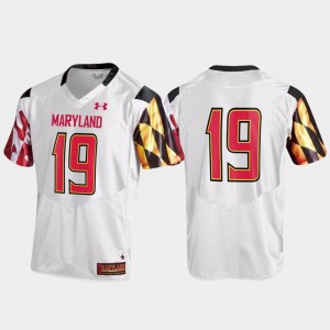 College Jersey Football For Men's White Replica #19 Maryland