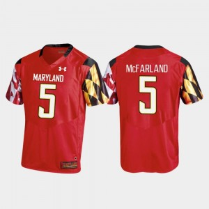 Football Men Replica Maryland Red Anthony McFarland College Jersey #5