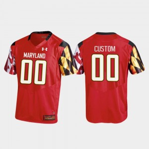 #00 Replica College Customized Jersey Red Football For Men University of Maryland