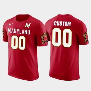 Cotton Football Men Terrapins Future Stars Red #00 College Custom T-Shirt