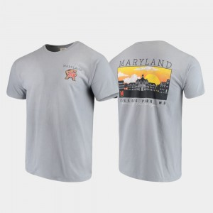 Campus Scenery Comfort Colors College T-Shirt Gray University of Maryland Men's