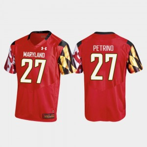 Football Joseph Petrino College Jersey Replica Red #27 Men's University of Maryland