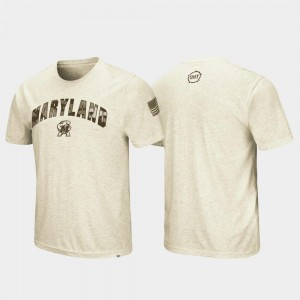 OHT Military Appreciation Desert Camo Oatmeal Terrapins College T-Shirt For Men