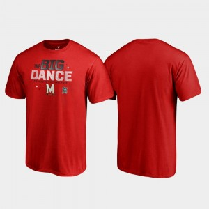 College T-Shirt Men's Maryland Terrapins Red Big Dance March Madness 2019 NCAA Basketball Tournament