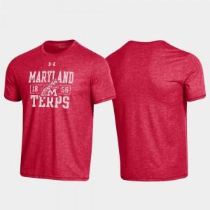 For Men's Red College T-Shirt Property Of Stack Maryland Bi-Blend