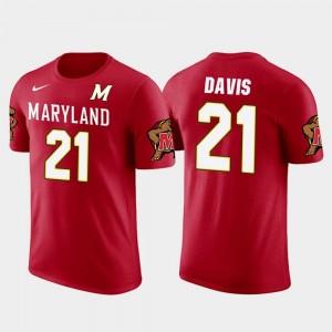 Red Future Stars Sean Davis College T-Shirt Terrapins Mens Pittsburgh Steelers Football #21