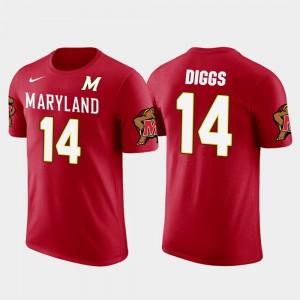 Red Minnesota Vikings Football Stefon Diggs College T-Shirt Maryland Terrapins Mens Future Stars #14