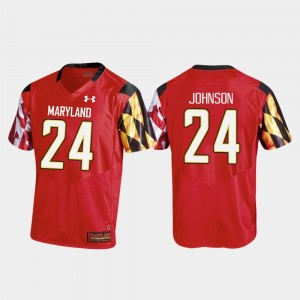 Ty Johnson College Jersey Terrapins Replica Football For Men Red #24