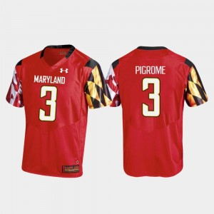 #3 Maryland Terrapins Football Tyrrell Pigrome College Jersey Red Replica For Men