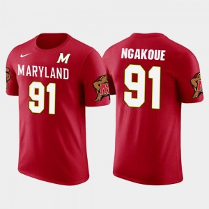 Men's Red Jacksonville Jaguars Football Yannick Ngakoue College T-Shirt Terrapins #91 Future Stars